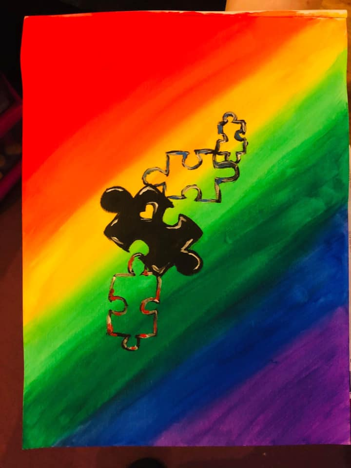 The pieces of the rainbow by Leah