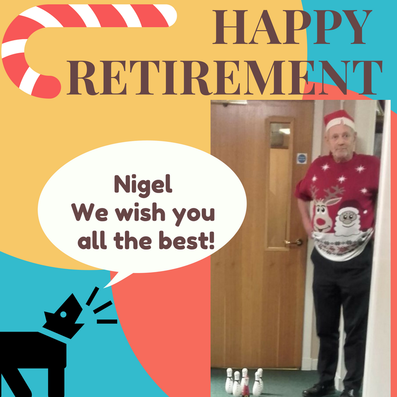 nigel happy retirement